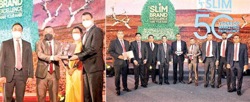 Left: Jayanga Perera, General Manager Marketing, CBL Food Cluster, Senior Brand Manager - CBL Samaposha receiving the award from Ranjith Kodithuwakku, CEO and GM of Peoples Bank. (On right):  The winning team.