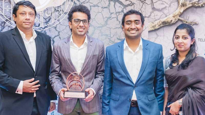 Executive Director and CEO at Moose Clothing Hasib Omar (second left) with the company's Head of Sales and Marketing Stefan Schumacher, Head of Supply Chain Vinu Basnayake and Senior Manager Finance, Nadeesha Gunawardana.