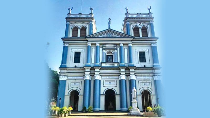 The façade of St. Mary's Church, Grand Street