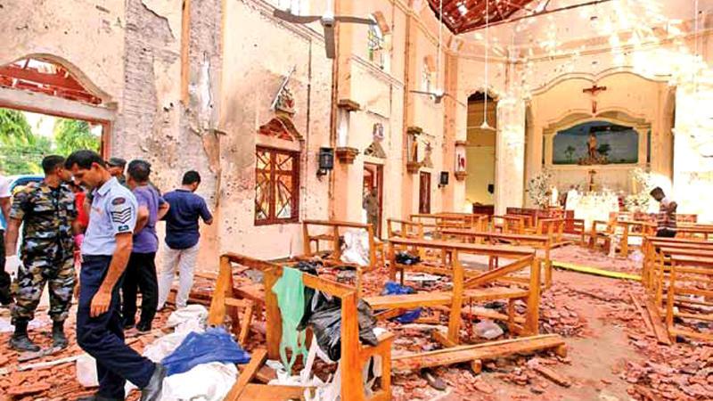 St. Sebastian's Church in Negombo following the Easter Sunday attacks
