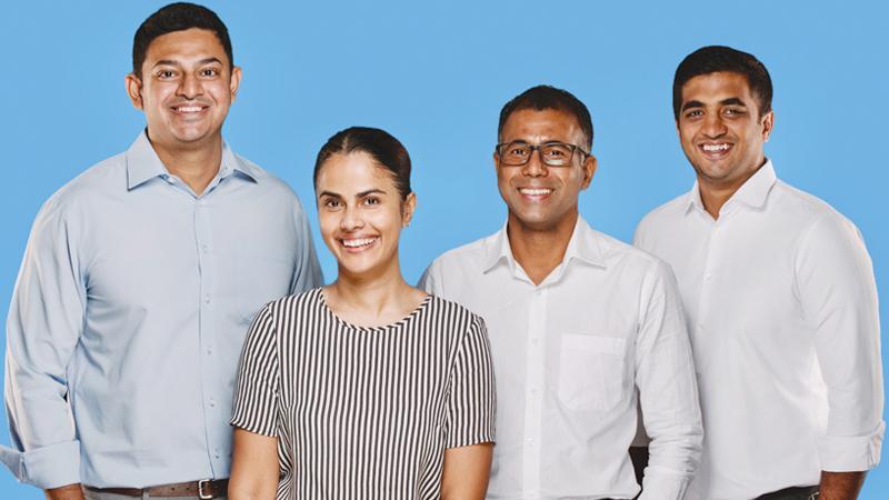 From left: CEO Heshan Fernando, Chief Growth Officer Nare Bandaranayake, Chief Medical Officer Dr. Janaka Wickramasinghe and COO Ashik Bari