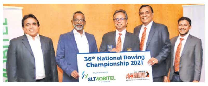 From left: Rohana Ellawala (Deputy Chief Marketing officer, SLT), Chandika Vitharana (Acting Chief Executive Officer, Mobitel), Dimuth Gunawardena (President ARASL), Sithira Wickremasekera (VP ARASL) and Pasan Ranaweera (Sect. ARASL) at the sponsorship presentation