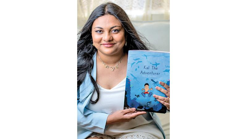Manesha Udawatta with her book Kal the Adventurer