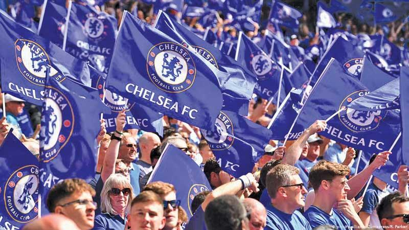 Chelsea fans at the UEFA final