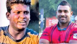Manoj Silva (Army SC captain)  & (CR&FC captain)   Shane Sammandapperuma