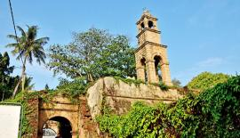 The only surviving remnants of the Dutch fort of Negombo and its clock tower seen today.