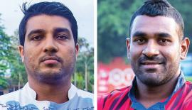 Roshan Ranasinghe (Captain Navy ) and Shane Sammandapperuma  (Captain CR&FC)