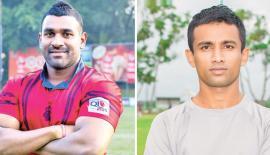 Shane Sammandapperuma  (CR&FC captain) & Gayantha Iddamalgoda  (Air Force SC captain)