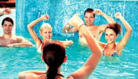 Water aerobics for stress relief