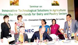 Dutch government officials and the Dutch businesses signed an agreement which confirms their commitment to support improving Sri Lanka's dairy sector