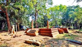The partly restored image house of the Padikemgala Vihara which was carried out by Central Cultural Fund recently.