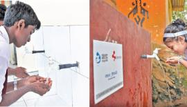 Some of the water supply facilities donated to schools under the Brandix 'Model Village' program.