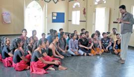 A training session by Dharmajith Punarjeewa. Pix: Mahinda Vithanachchi