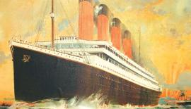 A rare lithograph pre-maiden voyage poster of RMS Titanic that sold for a world record £60,000 in 2010  Credit: PA