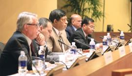 Ravi Karunanayake was also inducted as the chairman of the conference