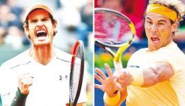 Andy Murray and Rafael Nadal