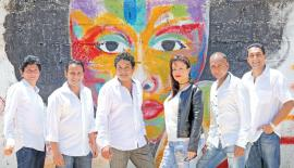 L-R- Maxie, Niroshan, Ramesh, Debbie, Dilip and  Gananath