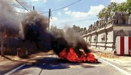 People burnt tyres in the area and blocked transport as a sign of protest