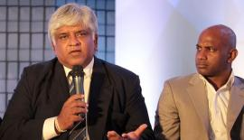 FILE PHOTO: Former Srilankan Cricket captain Arjuna Ranatunga along with Chaminda Vaas, Kaluwitharana, Jayasuriya, Pushpa Kumara attended the launch of Wills Realitors a real estate project in Srilanka at Palladium hotel in Mumbai. Express Photo by Amit Chakravarty 28-11-2013, Mumbai