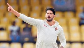 Zimbabwe captain Graeme Cremer struck twice in three overs to cripple the Sri Lanka middle order batting.