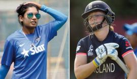 Mithali Raj (Capt) India and  Heather Knight (Capt) England