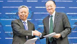 World Bank Group President, Jim Yong Kim and AIIB President, Jin Liqun (April 2016). Pic: World Bank