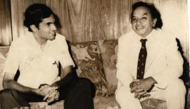 LEARNING THE ROPES: Ranil was appointed as a deputy to the then Minister of Foreign Affairs, A.C.S. Hameed by President J.R. Jayewardene