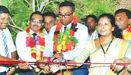 (from left): S. Manimaran – The Principal, P. Kandasamy – Divisional Education Officer (DEO), S. Vethasalam Retired DEO, K.Rajendra, Manager, Seylan Bank PLC - Batticaloa, A. Rameshkumar, Secretary, School Development Committee, I. P. Mohanraj, Manager, Seylan Bank PLC - Kalmunai, S. Udayakumaran, Executive of Seylan Bank PLC - Area Office