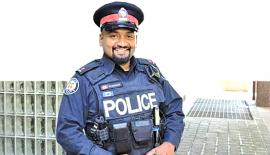 Toronto Police Constable Niran Jeyanesan says the teenager called him to say the outfit had worked.