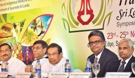 The head table at the launch of TradMed International 2017 - Sri Lanka PIC: THUSHARA FERNANDO