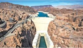 The Hoover Dam on the Arizona-Nevada border.  Pic: Jim Lo Scalzo/EPA
