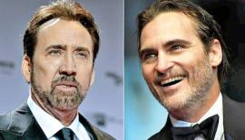 Meet your new superheroes … Nicolas Cage and Joaquin Phoenix.  Composite: Getty Images