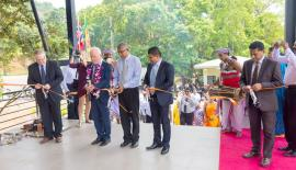 Frank Skarpnes - Director of Manufacturing, Chief Guest- Thorbjørn  Gaustadsæther, Ambassador to Norway in Sri Lanka and the Maldives,  Shantha Kumara- Deputy Director, MEPZ, Ruwan Rajapakse - Managing  Director, SandeepthaGamalath - Former Managing Director (Current Regional  Sales Director) open the new office.