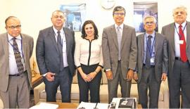 Members of the Sri Lanka delegation with Regional Deputy Vice President for Europe, Asia, Pacific and Latin America, Millennium Challenge Corporation (MCC), Fatema Z. Sumar.