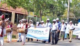 Elders at Nonagama participating in the walk