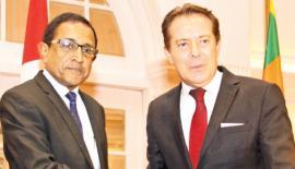 Minister Kabir Hashim and Ambassador for Turkey Tunca Ozcuhador.