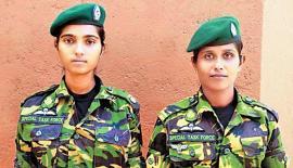 Sub Inspector R.A.D. Kanchana and Constable Nirmala Kumudini Senanayake