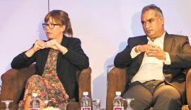 IKT Norge CEO Heidi Austin and ICTA Senior Consultant Indika de Soyza