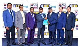 From left: Amila Kulatunga – Chief Operating Officer/General  Manager - IMC, Nishantha Jayasundara - General Manager /Chief Marketing  Officer –IMC- AIC, Dr. DharanganBakthaseelan - Executive Director/  Director Finance - AIC-IMC , Dr. GishanSumanasiri - Executive Director/  Chief Executive Officer - AIC-IMC, Mahinda Galagedara – Chairman –  EDEX, SudheeraSenaratne –  Secretary EDEX, Tharaka Dadagamuwa – Director  Sales.