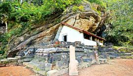 STEPS TO THE PAST: A view of the Ganegoda Viharaya.