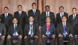 Seated from left - Sumudu Thanthirigoda (Secretary), Amal Fernando (Vice Chairman),  Brian Selvanayagam (Chairman), Asanga Ranasinghe (President), Sanjika Perera (Immediate Past Chair) and Sujith Silva (Treasurer).  Standing: Roshan Kaluarachchi (Head of Corporate Communications), Kanchana Karunagama (Head of Market Interest Groups), Rajiv David (Head of Education),Tharmalingam Dinesh (Head of Corporate Trainings), Charaka Perera (Head of Membership Development) and Muditha Hewawanitunga (Head of Networking