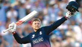 England's Joe Root celebrates after the match