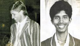Past winners of the Observer Schoolboy Cricketer : Sanjeeva Ranatunga(1988) and Kumara Dharmasena (1989) PIC: LAKE HOUSE MEDIA LIBRARY