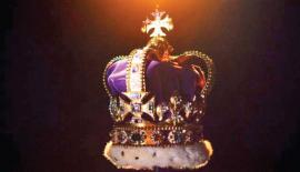 The stones, including the Black Prince's Ruby from the Imperial State Crown, were hidden in the tin and buried underground