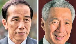 Joko Widodo and Hsien Loong