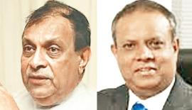 Speaker Karu Jayasuriya and Ramal Jasinghe