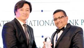 HNB Senior Manager, Development Banking, Vishwanath Gunawardena receives the award for Most Innovative Microfinance Bank in Sri Lanka at the recently concluded International Finance Magazine Awards (IFM) 2017 in Singapore.