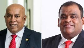 Chairman and Chief Executive Mohan Pandithage and Co-Chairman Hayleys PLC, Dhammika Perera.