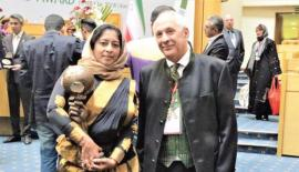 Director Haycarb PLC & Puritas, Sharmila Ragunathan with Energy Globe founder Wolfgang Neumann at the Energy Globe World Award Ceremony 2017, Presidential Palace, Tehran