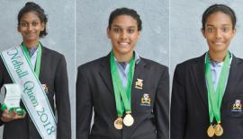 Netball Queen - Aneesha Perera , Yischelle Foenander - Best Shooter and Sajali Hettiarachchi - Best Defensive Player